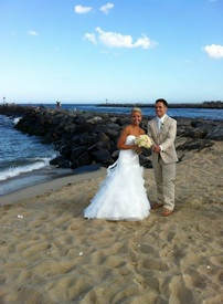New Jersey Wedding Officiant performs wedding at Manasquan Beach